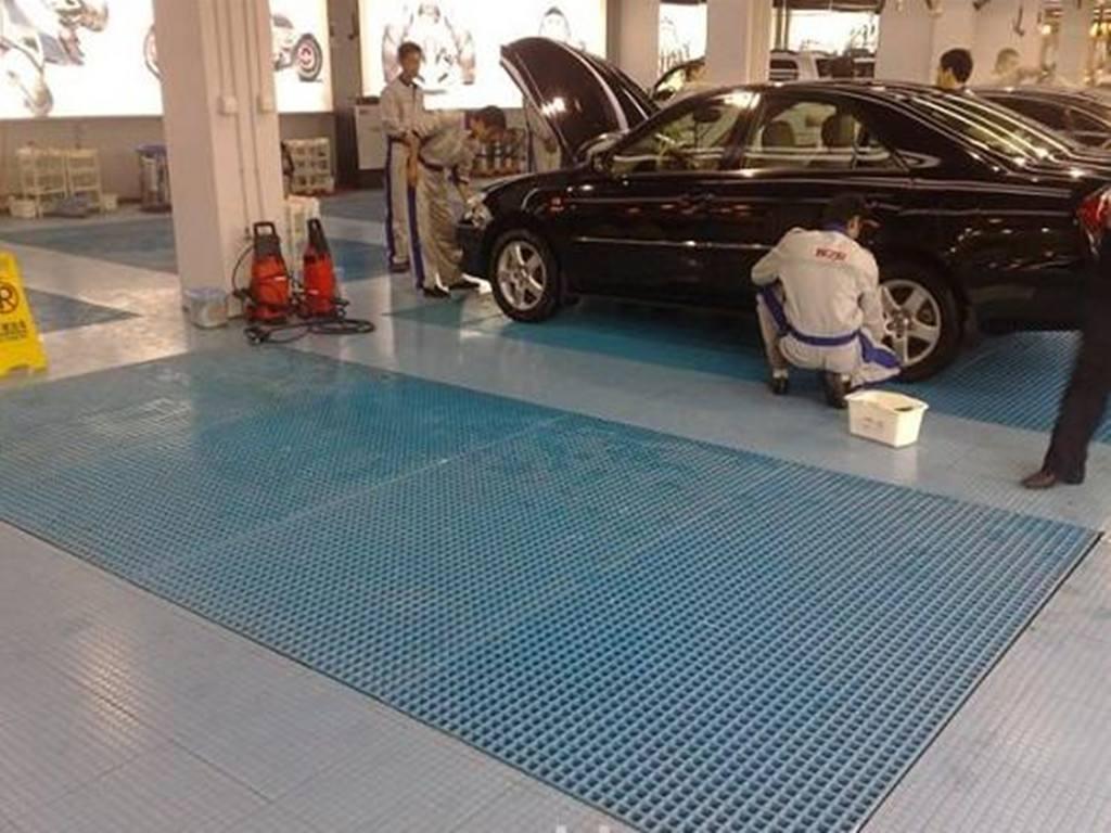 洗车地格栅施工图片