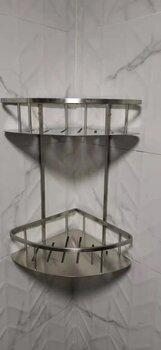 304不锈钢浴室浴巾架不锈钢杂物架厕所整理架批发
