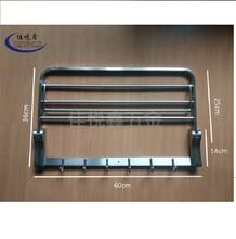 304不锈钢浴巾架毛巾架洗手间杂物架北京图片