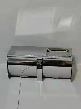 304不銹鋼衛生間雙排紙巾架廁所卷紙架酒店娛樂場所都適用