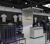 2021新款男裝展示道具上墻美顏板服裝展柜廣州男裝展柜廠