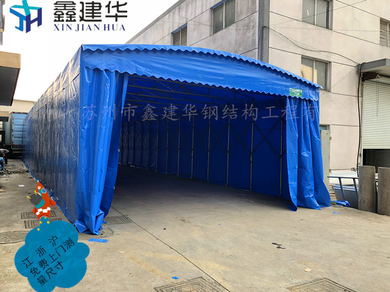 【浙江移动伸缩雨棚匠心品质杭州电动推拉篷雨棚和雨棚细节图湖州推