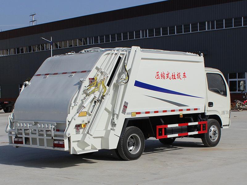 垃圾車簡筆畫圖片