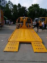 呼伦贝尔市一拖二平板运输车那种底盘好用_厦工楚胜斜板拖车价格图片