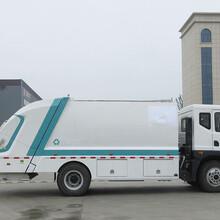 侧装压缩式垃圾车10吨东风新款御虎垃圾压缩车视频图片