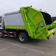 多利卡凯马4方压缩垃圾车哪里买_压缩对接垃圾车图片