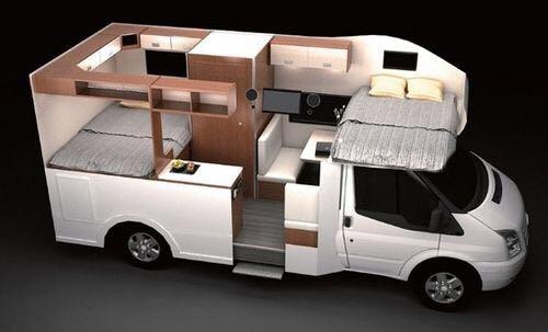 大通B型5座6座房车房车厂家价格-大通旅居车价格