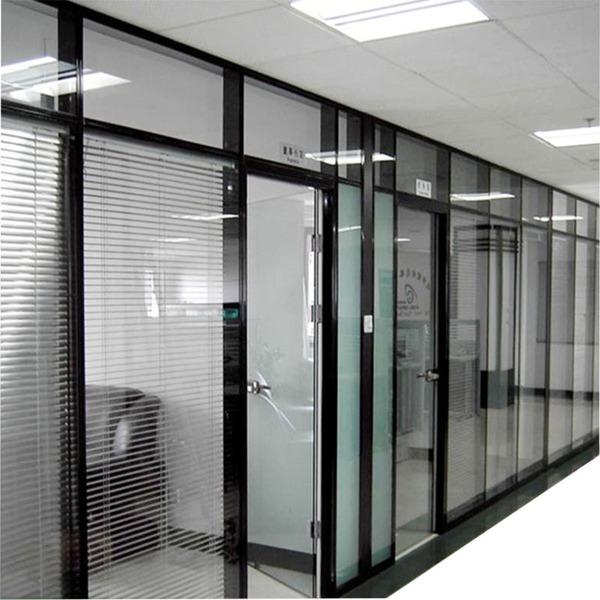 深圳办公室玻璃百叶高隔断价钱图片