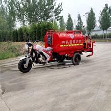 小型消防車摩托三輪消防車社區學校滅火救援三輪灑水車圖片