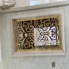 英德別墅鈦金銅屏風客廳歐式玄關隔斷靈巧造型圖片