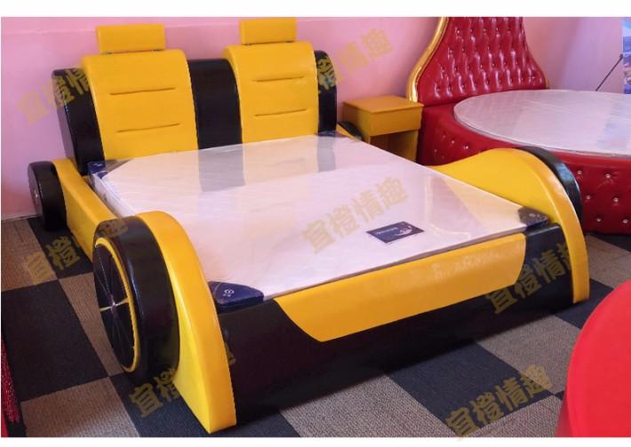 酒店创意合欢主题床水床v酒店床多功情趣双人床情侣汽车水床圆床新品情趣铜仁市酒店图片