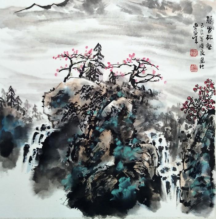 刘俊良国画山水作品