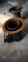 鋼制排水漏斗DN80規格,帶蓋圓形排水漏斗,佰譽管道漏斗