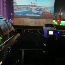 沈陽融IN-box集裝箱小鎮所用的瀚影660寸汽車影院放映機設備圖片