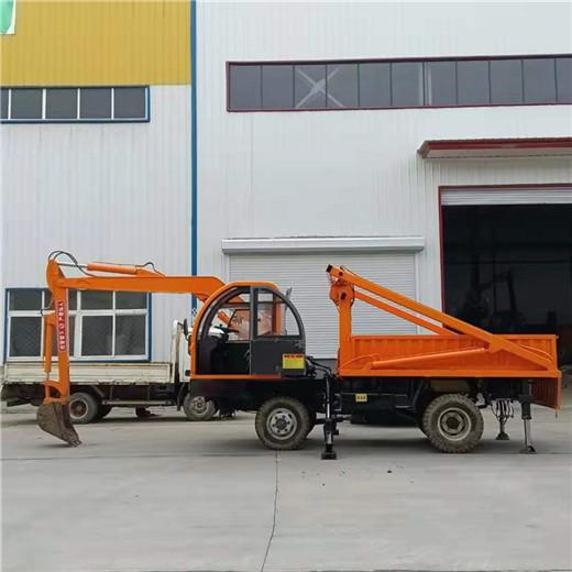 定制各种规格吨位吊挖一体机轮式四驱随车挖大马力随车挖