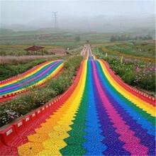 欣賞大自然配色的杰作無動力旱雪彩虹滑道設計規劃圖片