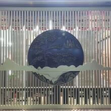 泰州售楼处不锈钢隔断背景墙定制厂家图片