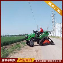 收割機青儲機等農機產品改裝橡膠履帶防陷半鏈軌圖片