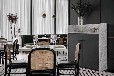 主题西餐厅餐椅款式咖啡厅餐桌椅定制铁艺竹藤工艺椅子