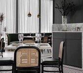 西餐廳桌椅尺寸咖啡廳餐桌椅大理石餐桌價格宜尚家具供應