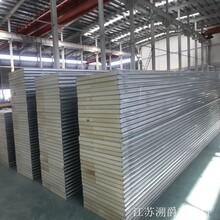 PU聚氨酯夾芯板外墻保溫隔熱聚氨酯復合彩鋼板冷庫板B1級阻燃圖片