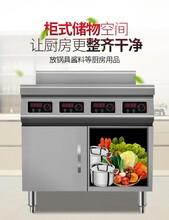 廣州商業區無明火煲仔飯機電加熱四眼電陶煲仔爐圖片
