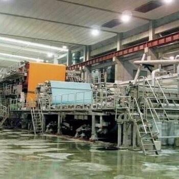 惠州回收1575型瓦楞紙生產線機械,回收文化用紙造紙機
