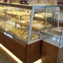 实木面包柜面包展示柜中岛柜