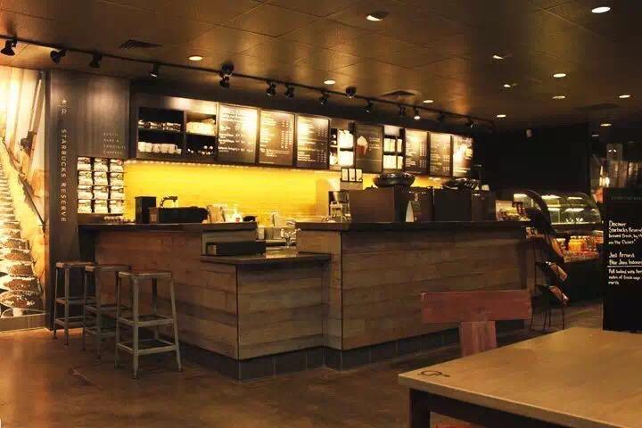 供应2016最新星巴克吧台厂家定制咖啡厅家具整体定制