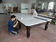 北京台球桌维修厂家台球桌更换台布图片