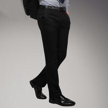 男士西裤商务时尚正装新款韩版修身男士黑色细竖纹西裤