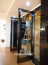 深圳玻璃门制作门禁刷卡玻璃门维修图片