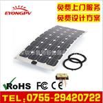 供应100W高效太阳能电池板高品质半柔性太阳能板图片