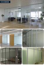 办公室隔断墙-铝合金隔断-玻璃隔断墙图片