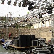 杭州舞台因箱子里杭州液晶电视LED大屏桁架背景租赁图片