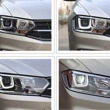 新宝来低配卤素车灯,升级大灯总成带日行灯+Q5套装效果让车友非常满意!超赞!图片