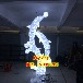 城市標志亮化立體雕塑彩燈立體燈光小品彩燈海豚造型燈