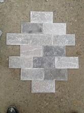 泓峰石材加工灰石英蘑菇石灰色板岩灰色文化石图片