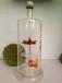 空心莲花造型玻璃酒瓶内置莲花将空心玻璃酒瓶