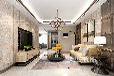 中森林语美墅140平方三室两厅现代简约案例装修效果图