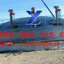 聊城裕隆钢板仓水泥钢板库气化管流化棒镀锌卷板仓图片