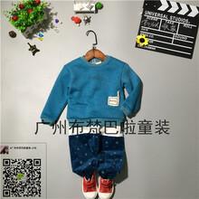 品牌童装尾货装冬季欧美纯棉三件套连身衣厂家直批