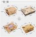 高档一次性牛皮纸快餐盒饭外卖寿司沙拉打包便当加厚