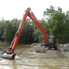 甘南小松215-9水陆两用挖掘机租赁湿地开发