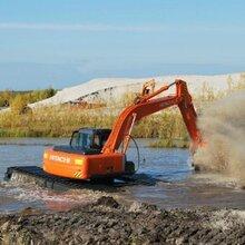 海西新柴215-9水路挖掘机租赁河道清淤沼泽地改造