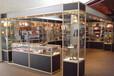 玻璃展柜钛合金展柜工厂定制