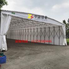 广州市可免费上门测量推拉雨棚仓储雨棚大型工地雨棚图片