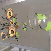 绿色罗马柱石材电视背景墙瓷砖背景墙精雕浮雕背景墙拼花图片