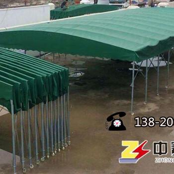 天津夜市大排档烧烤帐篷北京推拉雨蓬物流仓库棚河北收缩遮阳棚移动停车棚