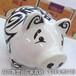 晶尚雕塑:树脂合成材质-玻璃钢小猪雕塑-美美的装饰品